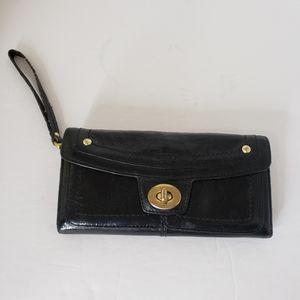 Coach Legacy Black Turnlock Wallet Wristlet